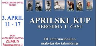 APRILSKI KUP 2016 – III internacionalno maketarsko takmičenje,
